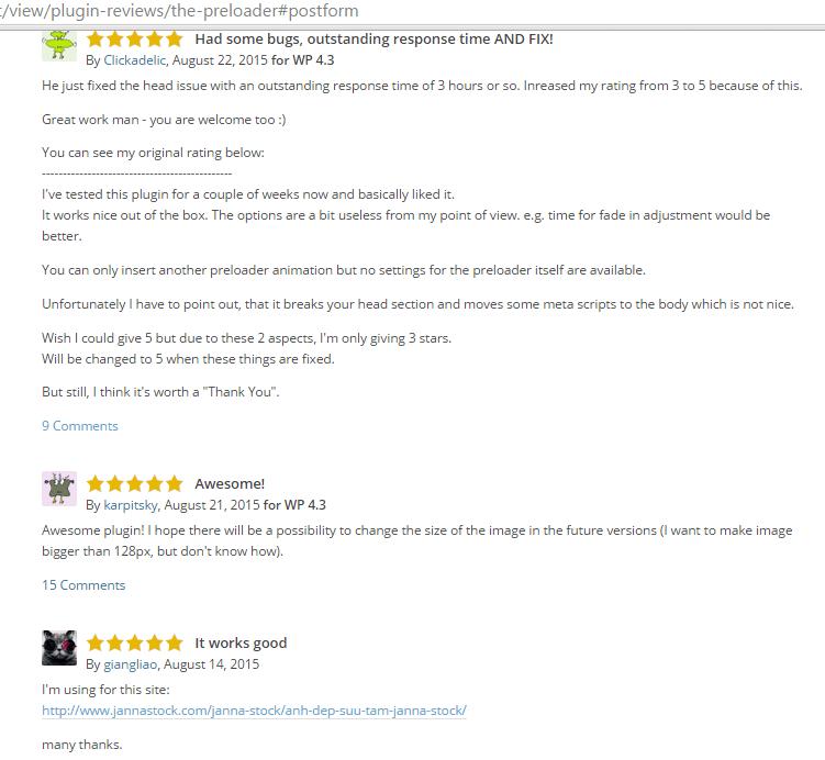 wordpress preloader reviews 2