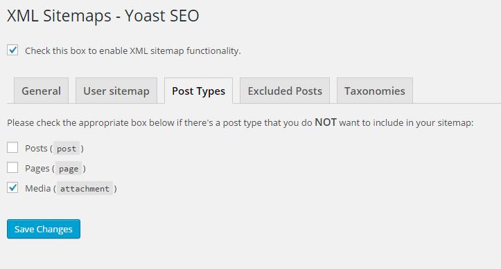 seo settings - xml media