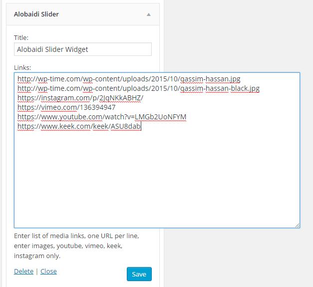 alobaidi slider widget