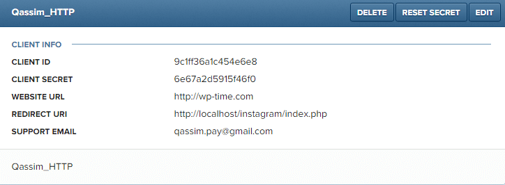 instagram api using php curl