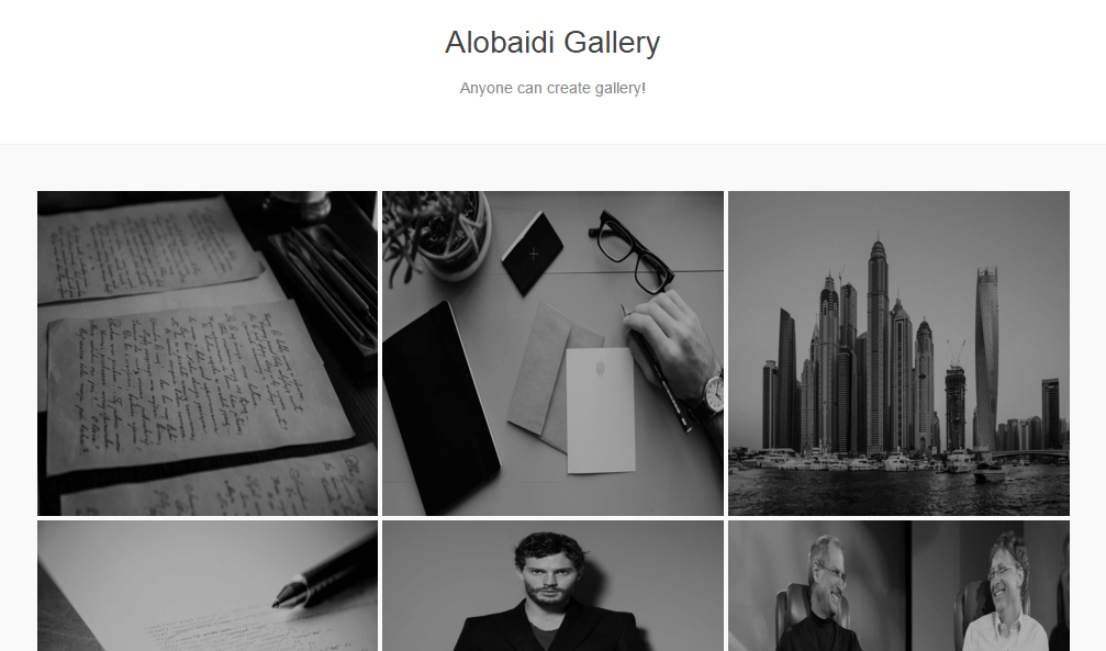 alobaidi gallery black and white