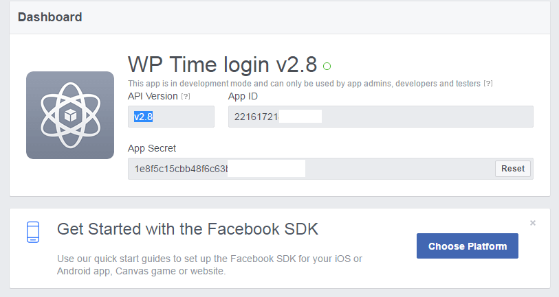 login with facebook api php