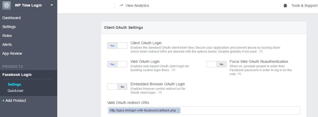 facebook redirect uri