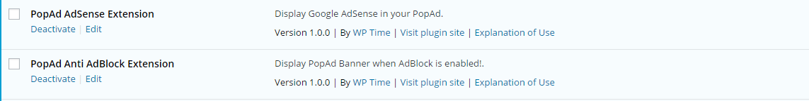 popad extensions