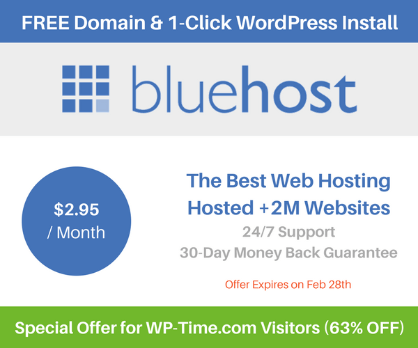 Special Web Hosting Offer for WP-Time.com visitors (63% OFF)